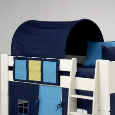 Kids Midsleeper Side Hanger with Three Pockets in Blue