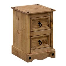 Corona 2 Drawer Bedside Table