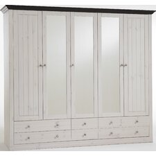 Riviera 5 Glazed Door 6 Drawer Wardrobe