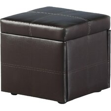 Unity Storage Stool in Expresso Brown PVC