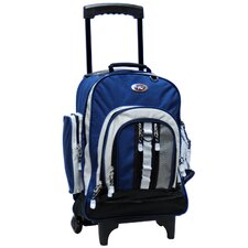 Rolling Awestruck Double Compartment Backpack