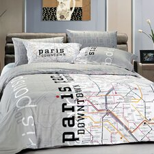 Paris Map Duvet Cover Set