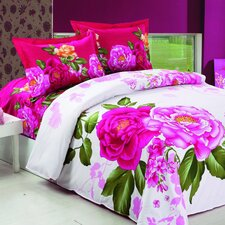 Vera 4 Piece Full / Queen Duvet Cover Set