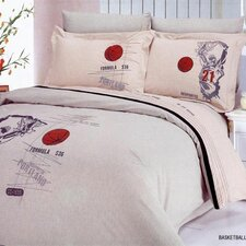 Basketball 6 Piece Full / Queen Duvet Cover Set