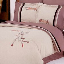 <strong>Le Vele</strong> Baseball 6 Piece Full / Queen Duvet Cover Set
