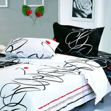 Life Full / Queen 6 Piece Duvet Cover Set