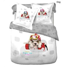 Dog 4 Piece Duvet Cover Set