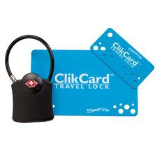 <strong>Smooth Trip</strong> TSA Approved Cable ClikCard Travel Lock