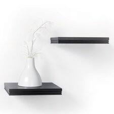 <strong>kathy ireland by LH Licensed Products</strong> Short Logan Bracketless Ledge Shelf (Set of 2)