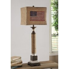 "Industria Americana 39"" H Table Lamp with Rectangular Shade"