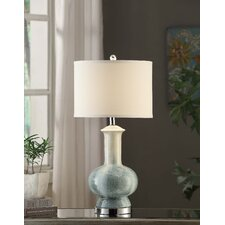 """Manhattan Sea Breeze 28"""" H Table Lamp with Drum Shade"""