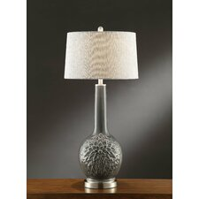 "Manhattan Hydrangia 35"" H Table Lamp with Empire Shade"