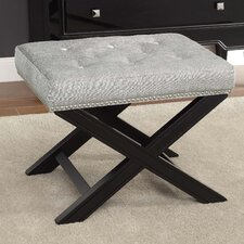 Fifth Avenue Stool with Nailhead Trim