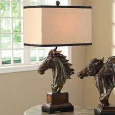 """Traditions Running Free 31.5"""" H Table Lamp with Rectangle Shade"""