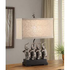 """Traditions Conga 26.5"""" H Table Lamp with Rectangle Shade"""