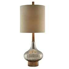 """Manhattan Flash Back 36.5"""" H Table Lamp with Drum Shade"""