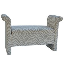 Safari Upholstered Zebra Bedroom Bench
