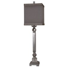 """Summit Champaign Dynasty 38.5"""" H Table Lamp with Square Shade"""