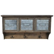 Wood/Metal Shelf