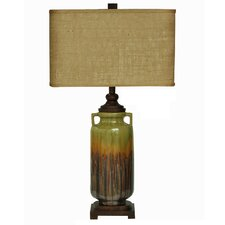 """Tuscan West Haven 32.5"""" H Table Lamp with Oval Shade"""