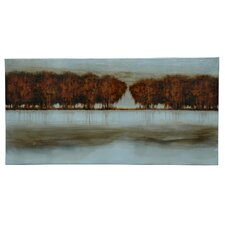 Weeping Willows in the Distance Oil Painting Print on Canvas