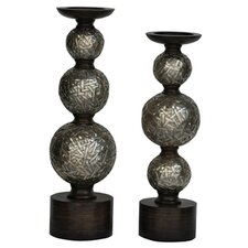 Tinsdale Resin Candlesticks (Set of 2)