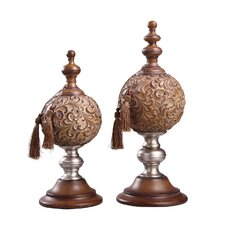 Paola Finial with Tassel (Set of 2)