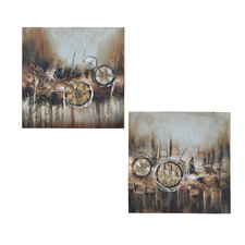 Troy 2 Piece Original Painting on Canvas Set (Set of 2)