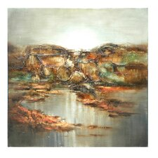 """Hills Tumbling to the Sea"" Painting Print on Canvas"
