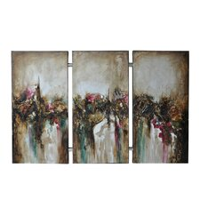 Turbulence 3 Peice Painting Print on Canvas Set (Set of 3)