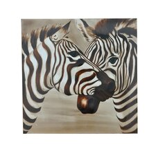 Zebras Graphic Art on Canvas