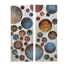 Flammarion 2 Peice Graphic Art on Canvas Set (Set of 2)
