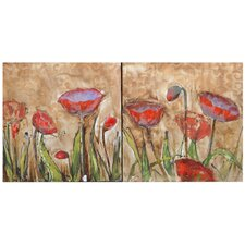 Deitrich 2 Peice Painting Print on Canvas Set (Set of 2)