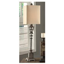 """Belle Buffet 37.5"""" H Table Lamp with Square Shade"""