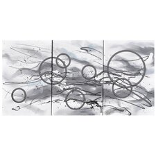 Infusion Painting Print on Canvas (Set of 3)