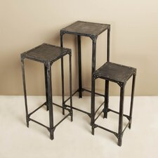 <strong>Interlude Home</strong> Factory 3 Piece Pedestal Set