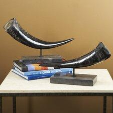 2 Piece Zin Forest Horns Sculpture Set