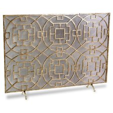 <strong>Interlude Home</strong> Palm Springs 1 Panel Iron Fireplace Screen