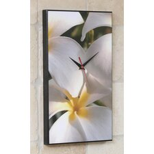 Plumeria Hawaiian Flower Wall Clock
