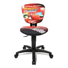 Kids and Youth Swivel Chair with Fabric Cover - Disney Cars