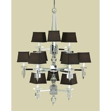 Cluny 12 Light Chandelier with Poly Silk Shade