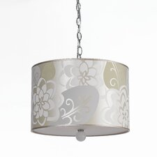 Candice Olson 3 Light Hanging Drum Pendant