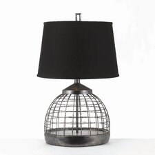 "Horizons Grid 28"" H Table Lamp with Empire Shade"