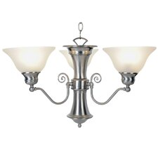 <strong>AF Lighting</strong> Wellington 3 Light Chandelier