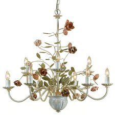 Ramblin Rose 9 Light Chandelier