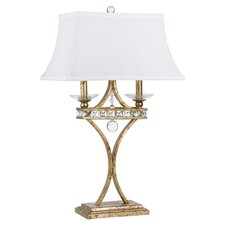 "Aristocrat 27.5"" H Table Lamp with Rectangle Shade"