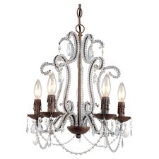 Beloved 5 Light Mini Chandelier