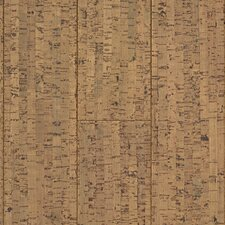 "Natural Cork New Earth Veneta 4-1/8"" Engineered Locking Cork Flooring in Cera"