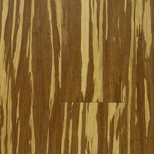 "Natural Bamboo Expressions 5-1/4"" Solid Locking Strand Woven Bamboo Flooring in Tiger"