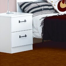 Visualise Century 2 Drawer Bedside Table